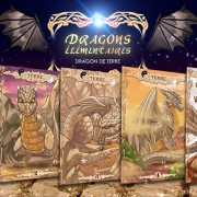 Illustrations de cartes du dragon de terre.
