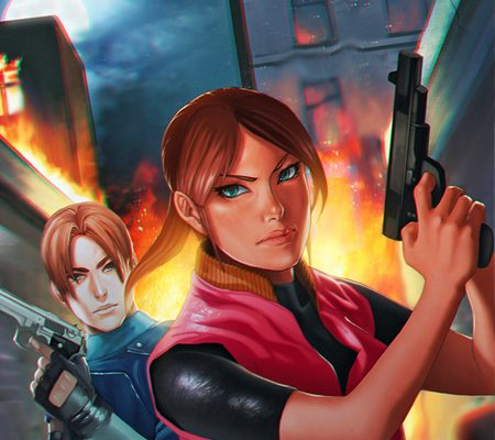 Resident Evil 2 fan art, une.